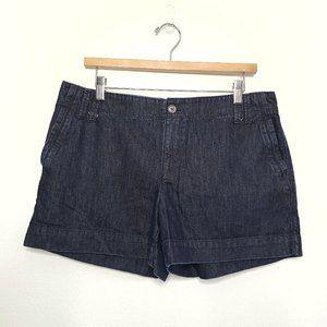 Ann Taylor Loft Dark wash pocket jean shorts